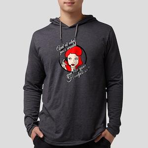 Sarcastic Red Head Customer Service Woman Long Sle