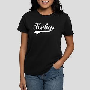Vintage Koby (Silver) Women's Dark T-Shirt