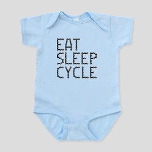 EAT, SLEEP, CYCLE Baby Light Bodysuit