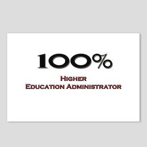 100 Percent Higher Education Administrator Postcar