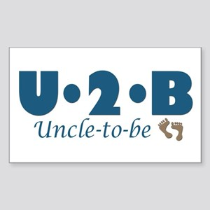 Uncle to Be Rectangle Sticker