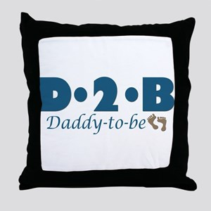 Daddy to Be Throw Pillow