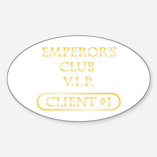 Spitzer emperor's club client Oval Decal