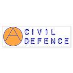Civil Defence Bumper Sticker (50 pk)