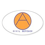Civil Defence Oval Sticker (10 pk)