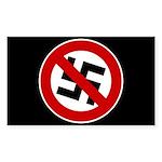 Anti-Nazi Rectangle Sticker 10 pk)