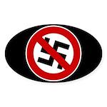 Anti-Nazi Oval Sticker (10 pk)