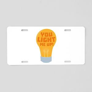 Bulb you light me up Cyjv6 Aluminum License Plate