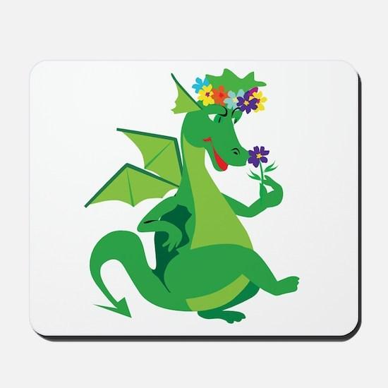 Flower Dragon Mousepad