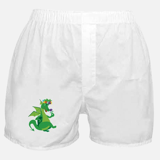 Flower Dragon Boxer Shorts