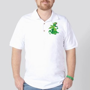 Flower Dragon Golf Shirt