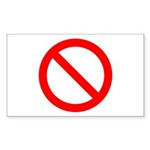 No Rectangle Sticker 10 pk)