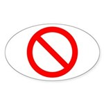 No Oval Sticker (10 pk)