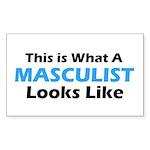 Masculist Rectangle Sticker 50 pk)