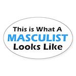 Masculist Oval Sticker (50 pk)