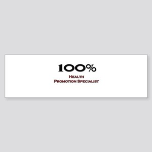100 Percent Health Promotion Specialist Sticker (B