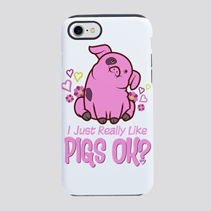 I Just Really Like Pigs iPhone 8/7 Tough Case
