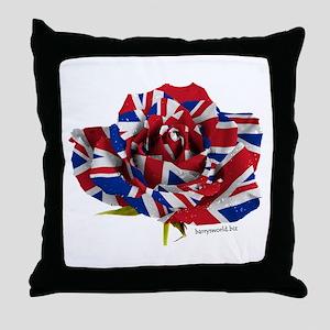 British Rose Throw Pillow