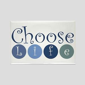 Choose Life (circles) Rectangle Magnet