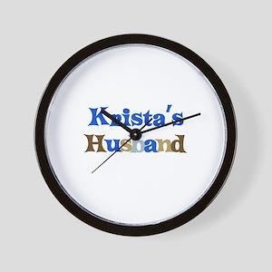 Krista's Husband Wall Clock