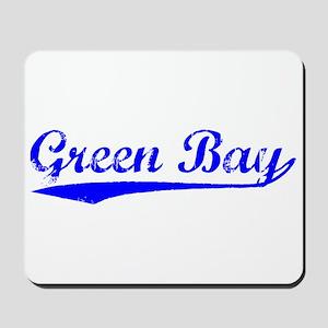 Vintage Green Bay (Blue) Mousepad