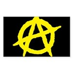 Anarchist Rectangle Sticker 10 pk)