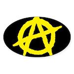 Anarchist Oval Sticker (50 pk)
