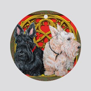 Scottish Terriers Wheaten Cel Ornament (Round)