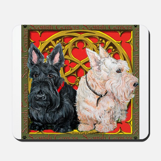 Scottish Terriers Wheaten Cel Mousepad