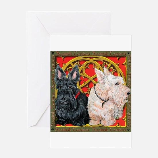Scottish Terriers Wheaten Cel Greeting Card
