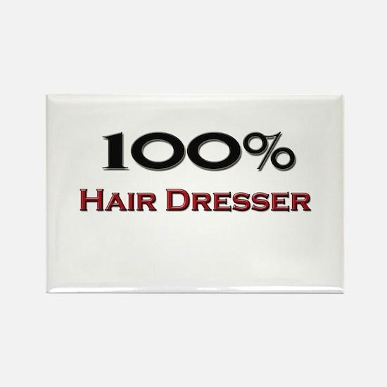 100 Percent Hair Dresser Rectangle Magnet