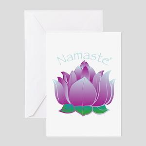Namaste and Lotus Greeting Card
