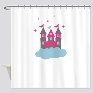 Fairy Castle in the Clouds Shower Curtain