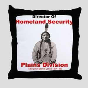 Sitting Bull Director Of Homeland Security Throw P
