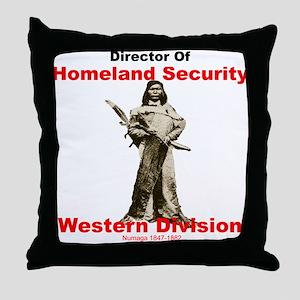 Numaga Director of Homeland Security Throw Pillow