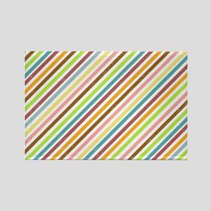 UltraMod Retro Striped Rectangle Magnet