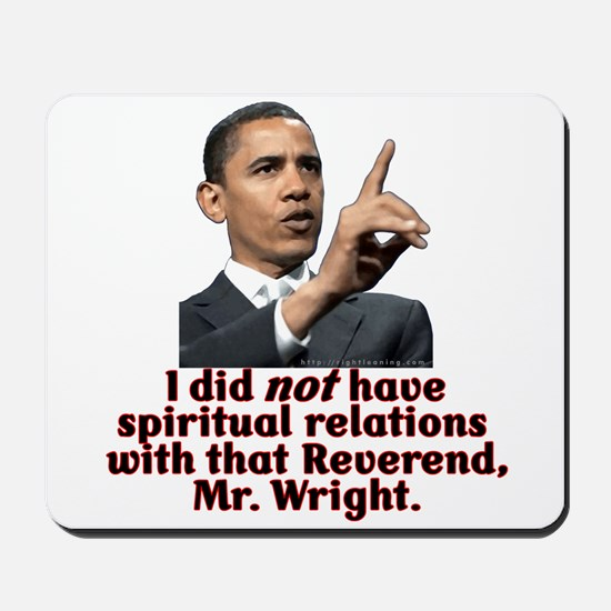 """I did not"" anti-Obama Mousepad"