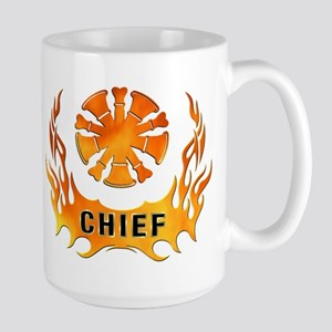 Fire Chiefs Flame Tattoo Large Mug