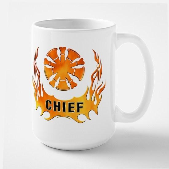 Fire Chiefs Flame Tattoo Large Mug
