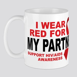 Red For My Partner Mug