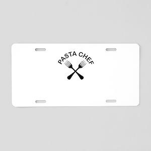 Pasta Chef Aluminum License Plate