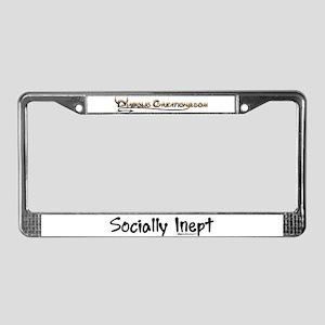 Socially Inept License Plate Frame