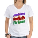 Jambalaya, Crawfish Pie, File Women's V-Neck T-Shi