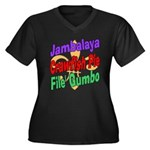 Jambalaya, Crawfish Pie, File Women's Plus Size V-