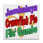 Jambalaya, Crawfish Pie, File Tile Coaster