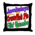 Jambalaya, Crawfish Pie, File Throw Pillow