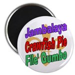 Jambalaya, Crawfish Pie, File Magnet