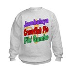 Jambalaya, Crawfish Pie, File Kids Sweatshirt