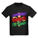 Jambalaya, Crawfish Pie, File Kids Dark T-Shirt
