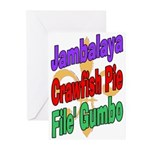 Jambalaya, Crawfish Pie, File Greeting Cards (Pk o
